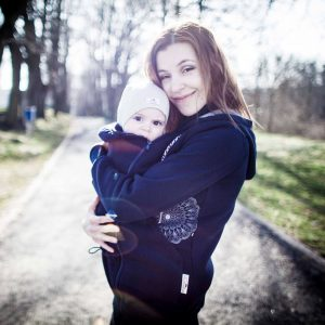 sweatshirt Angel wings μπουφαν babywearing dark blue 1