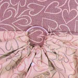 μαρσιπος ring sling fidella amors love arrows sparkling rose