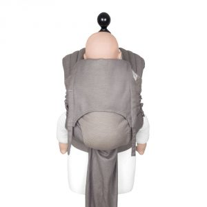 mei tai Fly tai toddler size Lines -warm taupe