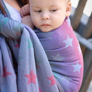 Yaro ring sling stars space rainbow