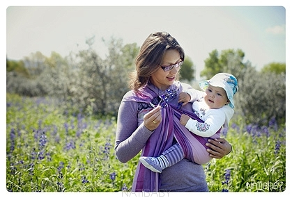 υφαντό ring sling natibaby brezo