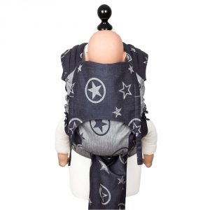 mei tai Fly tai toddler size Outer Space -blue hemp