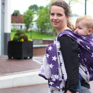 Υφαντό wrap Yaro slings stars Ultra purple beige Tencel