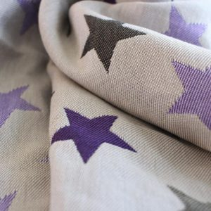 Υφαντό wrap Yaro slings stars Ultra purple beige Tencel 1