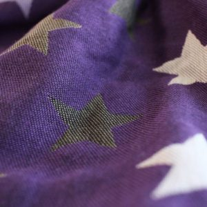 Υφαντό wrap Yaro slings stars Ultra purple beige Tencel 2