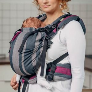 LennyUp carrier wrap conversion smoky-fuchsia 1
