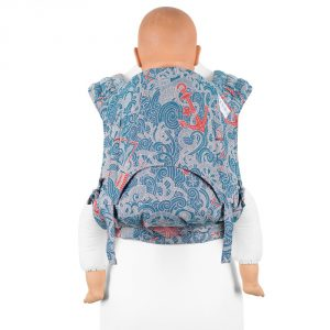 Fidella FlyClick Plus Baby carrier-Sea Anchor maritime blue