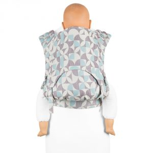 Fidella FlyClick Plus Baby carrier-Kaleidoscope turquoise plum
