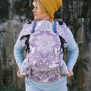 Lenka 4ever babycarrier -folk purple